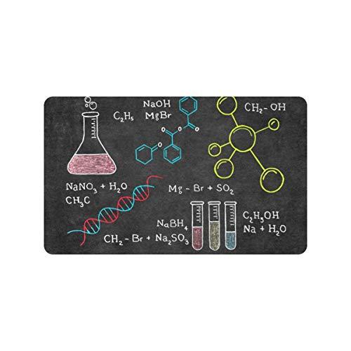 Elementos químicos de moda Tabla periódica 30x18 pulgadas Felpudo antideslizante Entrada de la puerta trasera Alfombra interior para la entrada Perfil lavable Claustro Entrada Alfombra del piso