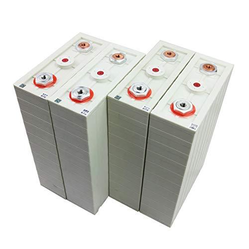 GJZhuan 3.2V 200Ah LIFEPO4 Batería Células De Fosfato De Hierro Litio 12V 24V 200Ah Baterías para Paquete Solar EV RV EU EU EE. UU. (Size : 4pcs)