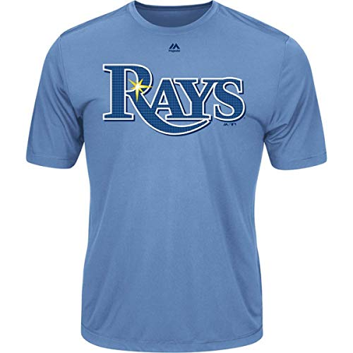 Majestic Men's Cool Base MLB Evolution Shirt Tampa Bay Rays Large
