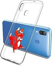 Oihxse Compatible con Samsung Galaxy A7 2017/A720 Silicona Funda Transparente Gel TPU Flexible Protectora Carcasa Dibujos Elefante Patrón Ultra Thin Estuche Cover Case(A3)