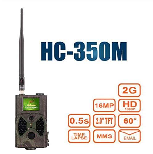 MEICHEN Jagdspurkamera MMS GPRS E-Mail Infrarot-Wildkamera GSM HC350M GPRS 16MP 1080P HC300M Nachtsichtgerät für Tierfotofallen,HC350M