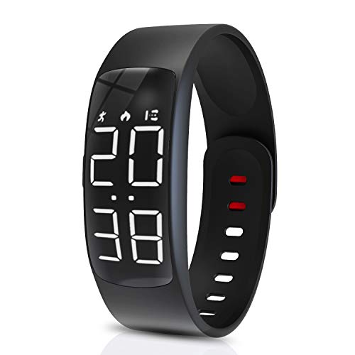 Yehtta Kids Fitness Tracker Smart Watch Bands Easter Gift for Kids Watch for Boys Pedometers for Walking Alarm Calorie Step Counter Wristband Child Sport Bracelet Black Fitness Activity Watch