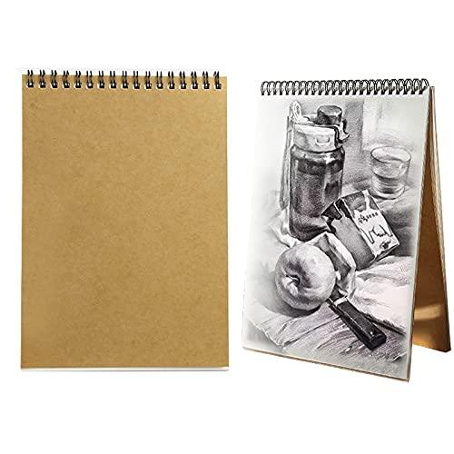 YingYi Cuadernos de dibujo A5, Bloc de Dibujo Bonitos con Tapa Dura 30 Hojas DIY Libros de Visitas para Escribir Dibujo Adecuado para Lápiz Acuarela Dibujo Escritura Artistas, vertical, 21x14,5cm