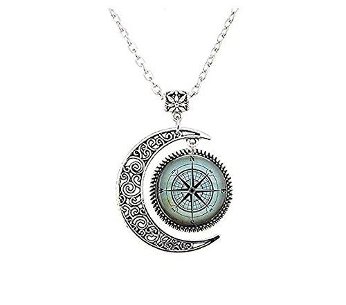 Nautischer Kompass Halskette, Kompass Rose, Marinerkompass, Segeln, Bootfahren Schlüsselanhänger