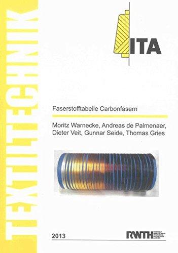 Faserstofftabelle Carbonfasern / Fibre-Table Carbon Fibres (Textiltechnik/ Textile Technology)