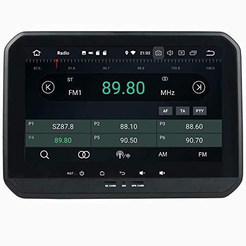 ROADYAKO Android 8.0 Vidéo Auto pour Suzuki Ignis 2016 2017 Radio Autoradio Stéréo avec Navigation GPS 3G WiFi Lien Miroir RDS FM AM Bluetooth AUX Multimédia Audio Vidéo