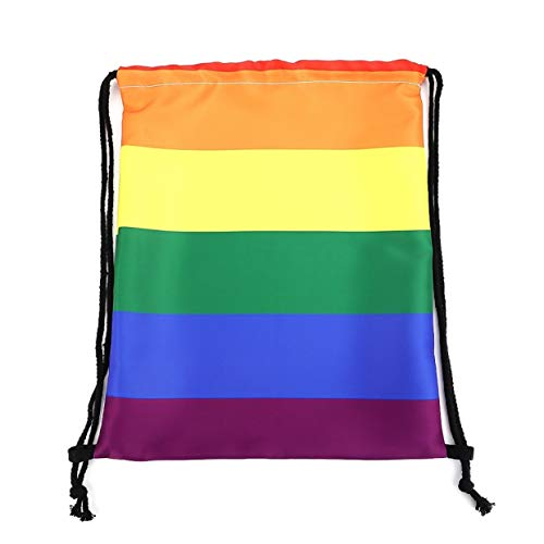 yangzhoujinbei fabelachtige goed gemaakte gay trots homo hetzelfde Geslacht trekkoord katoen school kauwgom kid tas same-Geslacht regenboog trekkoord tas 38 cm hoog en 30 cm breed