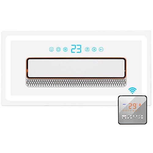 Lapden Deckenventilator mit Fernbedienung, 2 flüsternden leisen Geschwindigkeiten und eingebautem Timer, Osicillating Air Circulator für Innen-, Schlafzimmer-, Küchen-, Großraum,Bluetooth