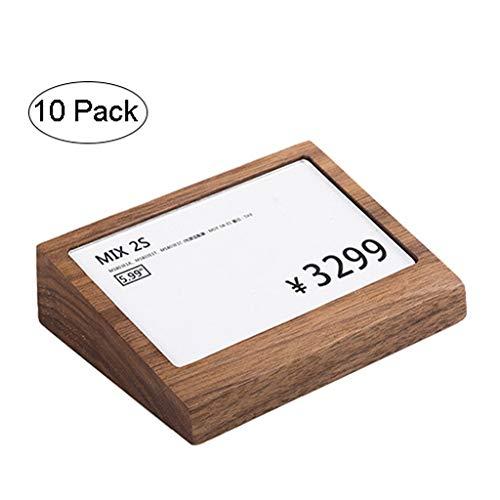 Tafelstandaard reclamebord 5-serie 10-serie 15-20 per 3-pack voor 100 x 75 mm brochurehouder staander van glashelder acrylglas acryl met glanzend gepolijste zijkanten