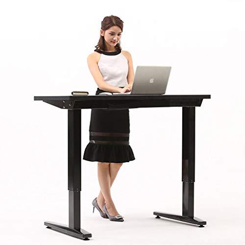 YAALO Stand Up Bureau dubbele motor in hoogte verstelbaar zithoogte ergonomisch bureau bureau schrijftafel bureau bureau kantoor staande up Desk zwart.