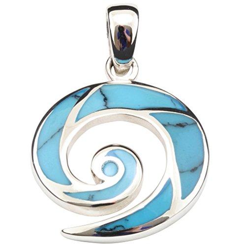 Ciondolo donna, in argento 925 con Howlite blu Turchese