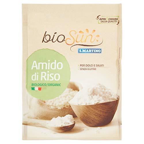 BIOSUN - Amido di Riso Biologico confezione da 120 g, Ideale per Preparazione di Dolci, Salati, Biscotti o per Addensare Salse, Utilizzato anche in Bellezza o per Bambini, Senza Glutine, Vegano