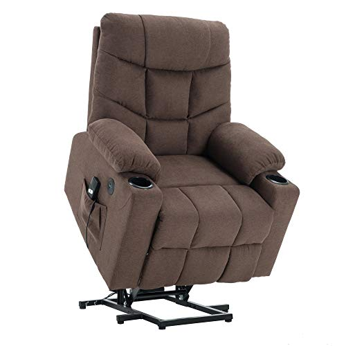 Mcombo Electric Power Lift Recliner Chair Sofa for Elderly, 3 Positions, 2 Side Pockets and Cup...