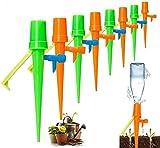 JuguHoovi Set de riego automático, 15 unidades, sistema de riego para plantas en maceta, con interruptor de válvula de control, dispensador de agua para plantas y verduras