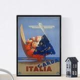 Vintage Poster Nacnic. Weinleseplakat von Frankreich und