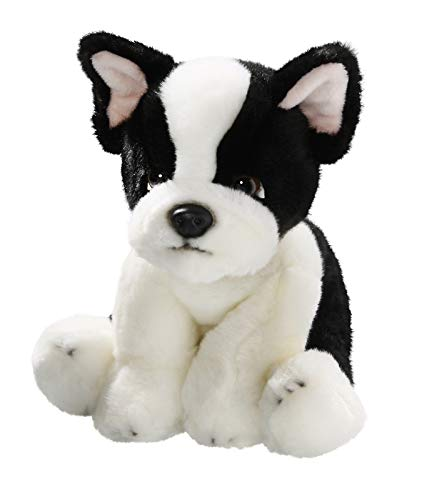 Entrañable muñeco perro bulldog francés en felpa de 24 cm