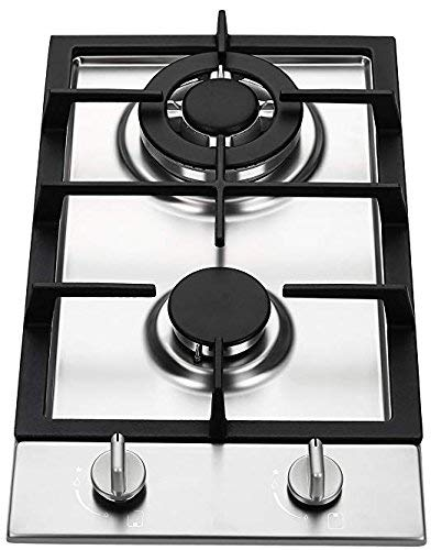 Ramblewood GC2-37N (Natural Gas) high efficiency 2 burner gas cooktop, ETL Safety Certified.