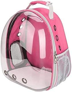 MAOSHE Pet Bag, Portable Cat Bag Pet Cat Carrier Bag Transparent Capsule Breathable Travel Parrot Cat Dog Bird Backpack (C...