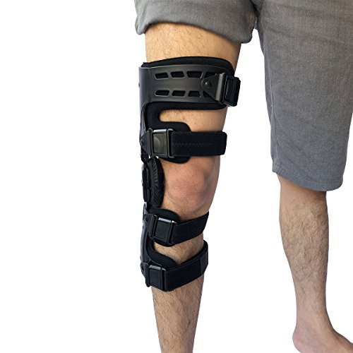 Orthomen OA Unloader Knee Brace - Lateral/Outside Support for Arthritis Pain, Osteoarthritis, Cartilage Defect Repair, Avascular Necrosis, Knee Joint Pain and Degeneration (Right-Black)