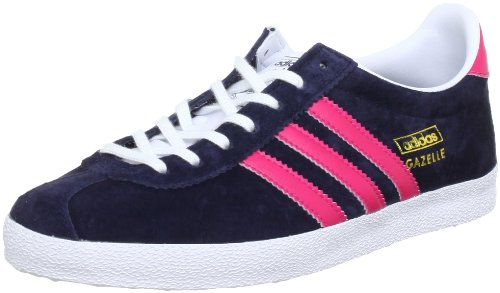 adidas Originals GAZELLE OG W Q20699, Damen Sneaker, Blau (LEGEND INK S10 / BLAZE PINK S13 / RUNNING WHITE FTW), EU 41 1/3 (UK 7.5) (US 9)