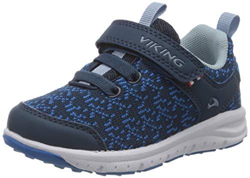 viking Unisex-Kinder Veil Sneaker, Blau (Navy/Blue 535), 23 EU