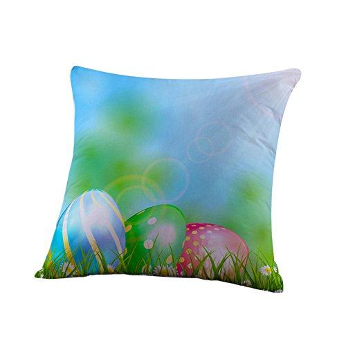 Kissenbezüge Ostern Drucken Deko Ei Rabbit Kaninchen Kissenbezug Zierkissenbezüge Throw Pillow Covers Cases Festival Kissenhülle Decoration Schlafsofa Home URIBAKY