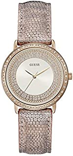 Guess Dress Watch for Women, Stainless Steel Case, White Dial, Analog -W1064L2