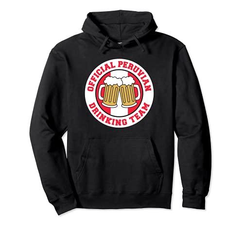 Bandera oficial del equipo peruano de beber de la cerveza de Perú divertida Sudadera con Capucha