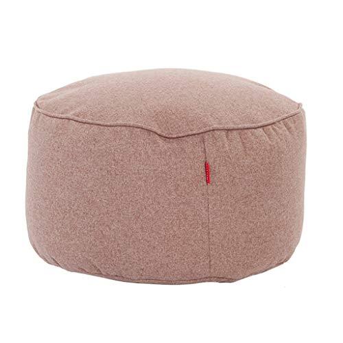 HSWYJJPFB Lazy Couch Reposapiés Puf De Tela Hogar Entrar En La Puerta De La Sala Probador Pequeño Taburete De Tela 45X25CM Regalo de Edad Avanzada (Color : B, Talla : 45X25CM)