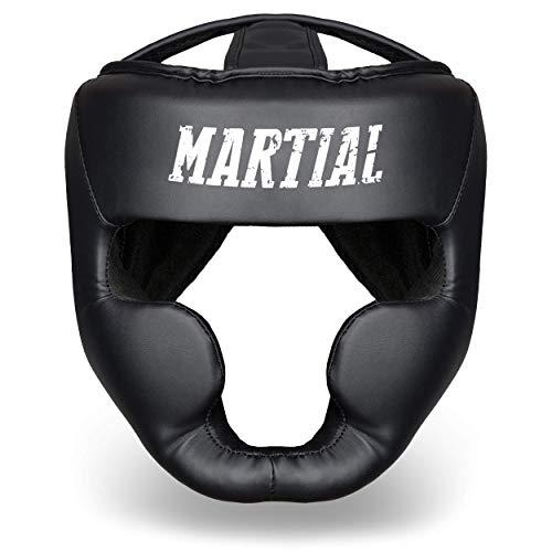 Martial Casco con Alta absorción de Impactos. Protección Facial con Visibilidad Ideal...