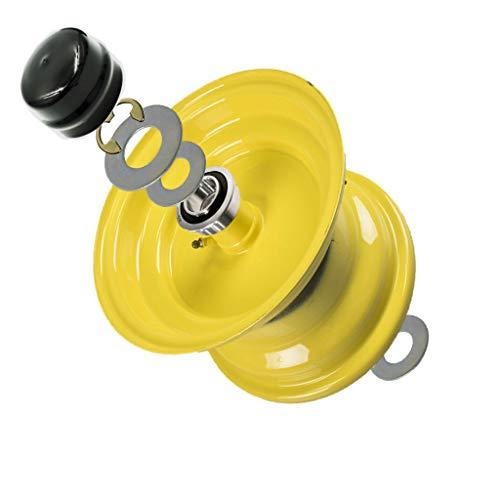 (4 Pack) HD Switch Front Wheel Bearing Bushing to Bearing Conversion Kit Replaces Husqvarna, AYP, Poulan, Jonsered, Craftsman, 532124959, 124959