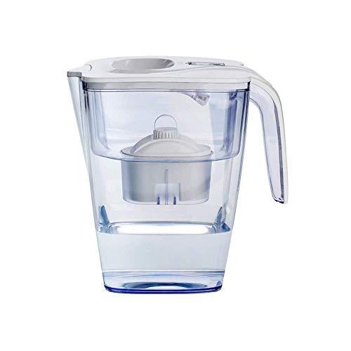 Jarra de filtro de agua para cocina casera con filtro clásico, jarra de agua alcalina portátil 3.7L Filtro de agua potable directa, puede ayudar a reducir la cal, el cloro y los metales pesados (Co