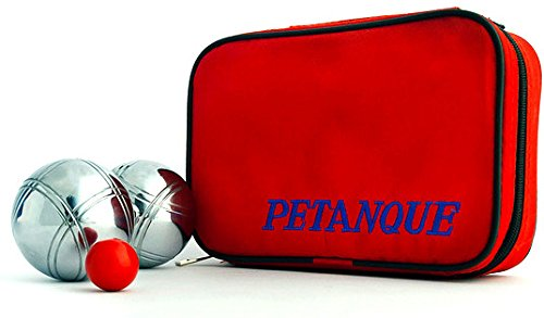 73mm Petanque Set - 6 Boules, 2 Designs, Carrying Case and 2 Target Balls