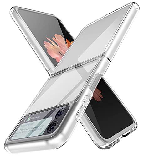 RanTuo Cover per Samsung Galaxy Z Flip 3, Ultra Sottile, Anti Graffio, Antiurto, Case in Silicone TPU Duro, Custodia per Samsung Galaxy Z Flip 3.(Trasparente)