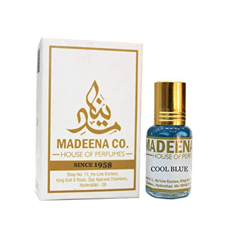 MADEENA CO. Cool Blue 6Ml; Real & Natural Attar; Best Attar For Men And Women; 100% Alcohol Free & Long Lasting Attar.