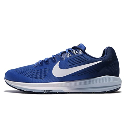 Nike Air Zoom Structure 21 Mens Running Trainers 904695 Sneakers Shoes (UK 9 US 10 EU 44, mega Blue White 402)