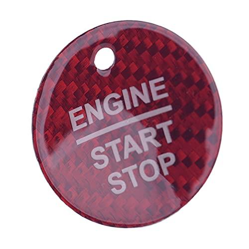 YFJLOVE YUFENGJIAO Red Motor Start Stop Switch Button Pegatina Ajuste para Ford F-150 Escort Edge Mondeo Focus Everest Taurus Explorer