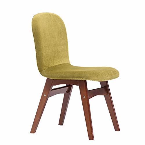 GAIQIN Stark und langlebig Rotbrauner massiver hölzerner Esszimmerstuhl - Rückenlehnen-Stuhl - bequemer Esszimmer-Stuhl - Freizeit-Schreibtisch-Stuhl (Farbe : C)
