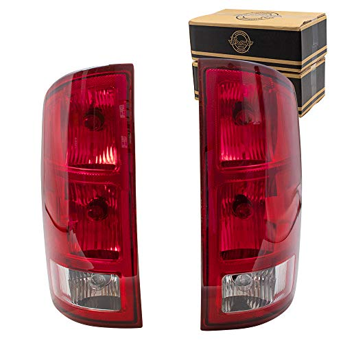 Replacement Set Driver and Passenger Tail Lights with Circuit Board Compatible with 2002-2006 Ram Pickup Truck 55077347AF 55077348AF