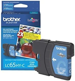 Brother LC65HYC High Yield Ink Cartridge (Cyan) - Retail Packaging