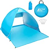 Active Era Pop Up Beach Tent - Rated UPF 50+ for UV Sun Protection - Includes Carry Travel Bag & Tent Pegs