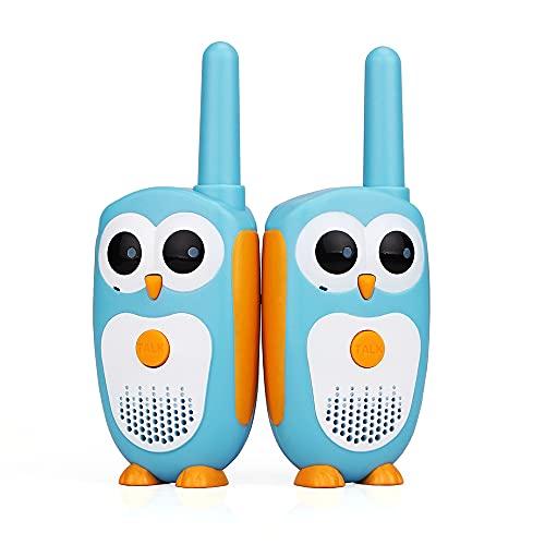 New Walkie Talkies, 2 Walkie Talkie para Niños Rango de 3KM Walky Talky para Cámping Juegos Policia Juguetes with Linterna,Navidad Cumpleaños Regalos para Niños