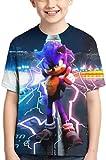 AMCYT Camiseta Sonic, The Hedgehog unisex Cool 3D con dibujos animados (Sonic 5, L)
