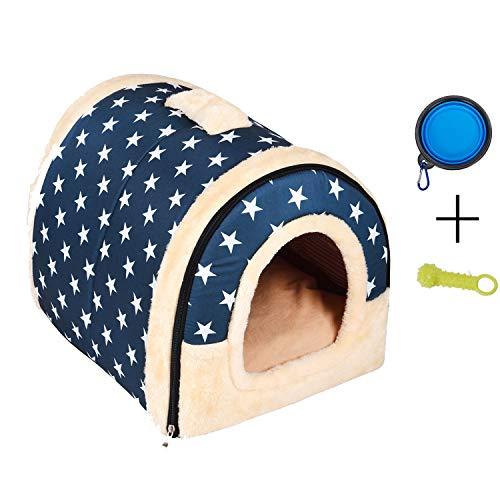 Enko Luxury Cozy 2-in-1 Pet House et Canapé, De Haute Qualité Intérieur et Extérieur Portable Foldable Dog Room/Lit pour Chat. Donnez à Votre Animal Un Maison Confortable. (Large, Bleu)