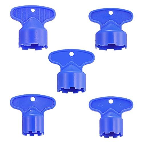DOITOOL Herramienta de llave de extracción de llave de aireador de grifo de caché de 5 piezas para m 16.5 18.5 21.5 22.5 24 aireadores de caché llave de aireadores de fregadero de cocina