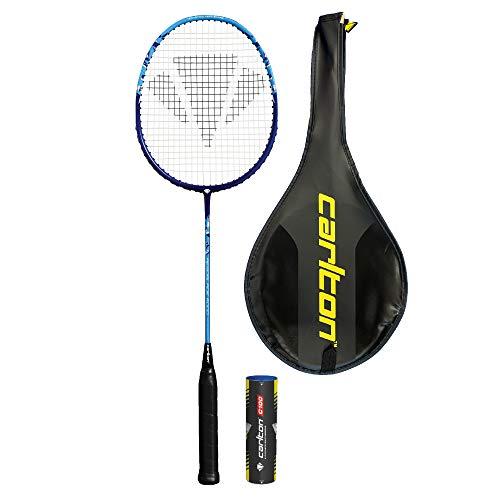DUNLOP Carlton Aeroblade 5000 Badminton Racket inc Protective Cover + 6 Shuttlecocks (Various Quantity Option) (1 Racket + Shuttles)