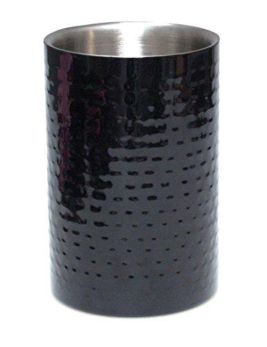 REVIMPORT Schale 03/2773Flaschenkühler BlackSilver Edelstahl schwarz 12x 12x 19cm