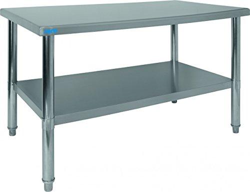 Saro 213–2100Amelie mesa de trabajo, acero inoxidable