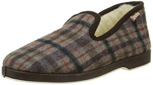 Victoria Confortable Cuadros F/Lana, Zapatillas de Estar por casa para