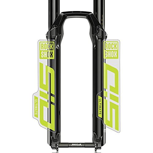 GZSC Pegatinas Bicicleta S-I-D Calcomanías Bicicleta de montaña Frente Fork Pegatinas MTB Bicicleta Frente Tenedor Calcomanías Pegatinas (Color : Cannondale Green(cle)